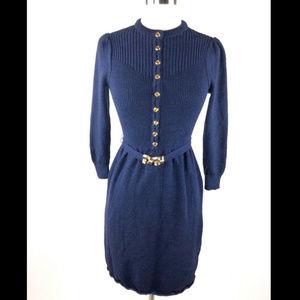 OSCAR DE LA RENTA Knit Vtg Knit Belted Dress